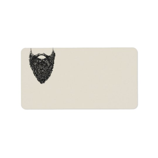 Respect The Beard  | Blank Return Address Label