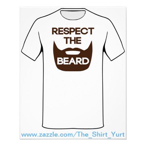 Respect The Beard Full Color Flyer