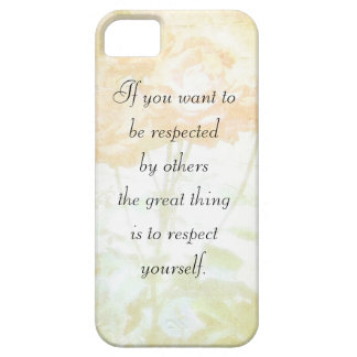 Respect Yourself (Dostoyevsky Quote) Iphone 5 Case
