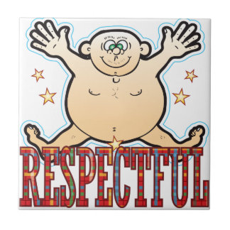 Respectful Fat Man Tile