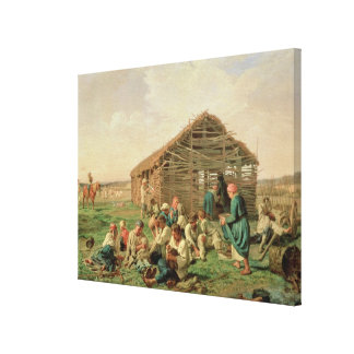 Rest during Haying, 1861 Canvas Print