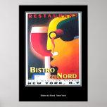 Restaurant Bistro Du Nord New York Art Deco poster Print