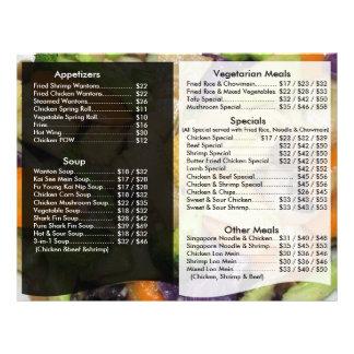 Restaurant Menu Flyer