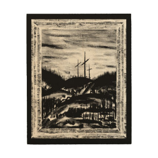 Resting Cross Wood Print