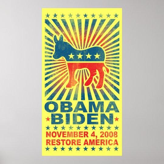 Restore America Vintage Poster