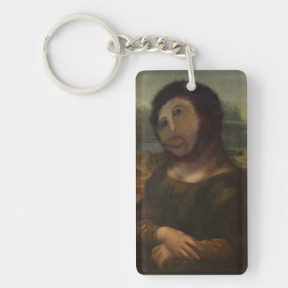restored Mona Lisa Key Ring