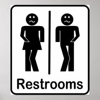 Bathroom Signs Nz bathroom sign posters | zazzle.co.nz