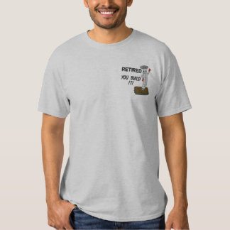 Retired Carpenter Embroidered Shirt