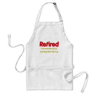 Retired Funny Saying Standard Apron