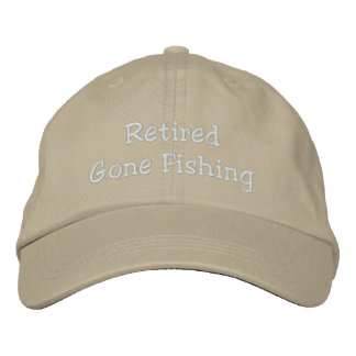Retired Gone Fishing Personalized Adjustable Hat Embroidered Baseball Caps
