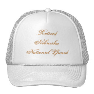 Retired Nebraska National Guard Mesh Hats
