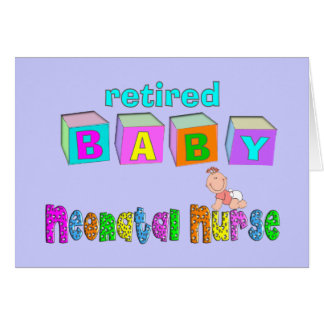 Retired Neonatal Nurse Gifts Card