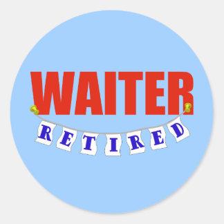 Retired Waiter Classic Round Sticker