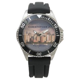 Retired! Wrist Watch Manhattan NYC, Black Strap