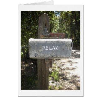 RETIREMENT HUMOR - RELAX-YOU REMEBER HOW? GREETING CARD