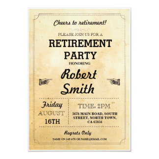 Retirement Invite Party Rustic Retired Cheers BBQ