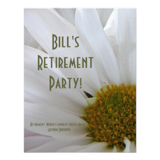 Retirement Party-Daisy+Humor Quote Personalized Announcement