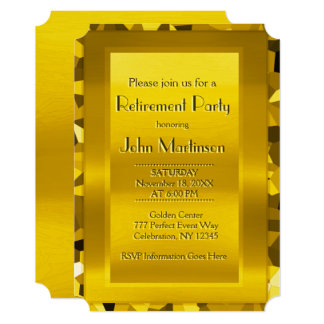 Retirement Party | Elegant Gold Card