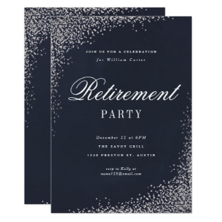 Retirement Party faux foil party invitation