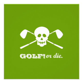Retirement Party - Golf Theme - Golf or Die Announcements