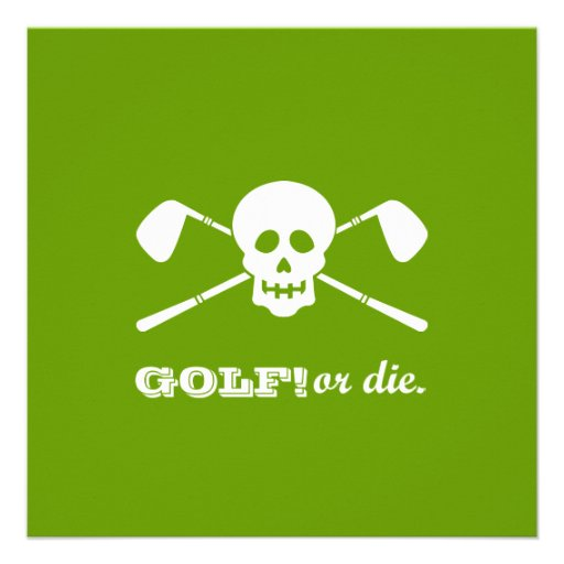 Retirement Party - Golf Theme - Golf or Die! Announcements