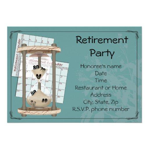 Retirement Party Personalized Announcements