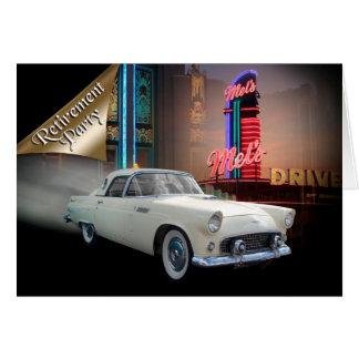 Retirement party invitation classic car