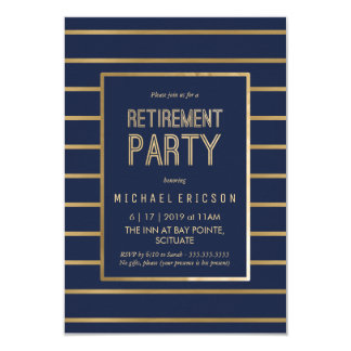 Retirement Party Invitation - Customize, Classy