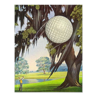RETIREMENT PARTY INVITATION GOLFER EZ2 CUSTOMIZE