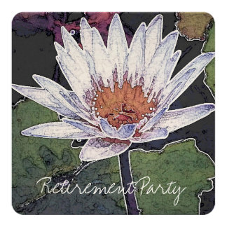 RETIREMENT PARTY LOTUS INVITATION CARD