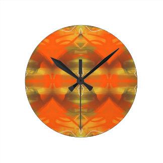 Retro 70s Orange Round Clock