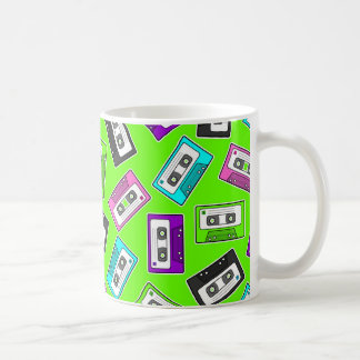 "Retro 80""s Mixtape Print - Green Background Coffee Mug"