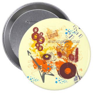Retro 80 s Music Pinback Button