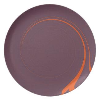 Retro Abstract Art Dinner Plate