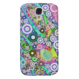 Retro Abstract Circle Pattern Galaxy S4 Case