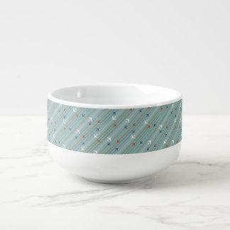 Retro Airplane Pattern Soup Mug