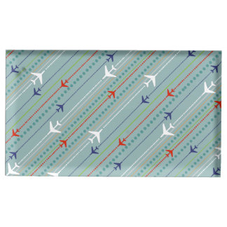 Retro Airplane Pattern Table Card Holder
