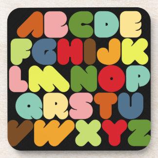 Retro Alphabet Letters A to Z Coaster