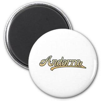 Retro Andorra Magnet