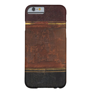 Retro Antique Book, faux leather bound brown Barely There iPhone 6 Case