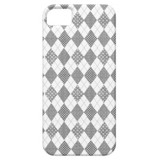 Retro Argyle Trendy Black White Classic Patterns iPhone 5 Covers