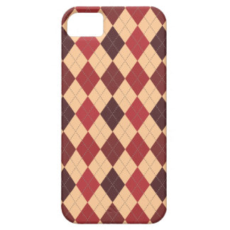 Retro Argyle Trendy Crimson Red Case For The iPhone 5
