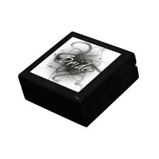 Retro Atomic Bride - Black & White Gift Box