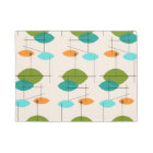 Retro Atomic Mobile Pattern Door Mat