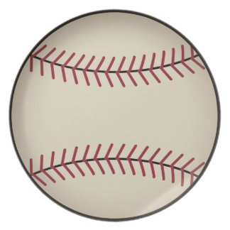 Retro Baseball Plate