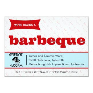 Retro BBQ Barbeque Party Invitations