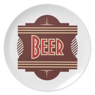 Retro Beer Logo Snack Plate