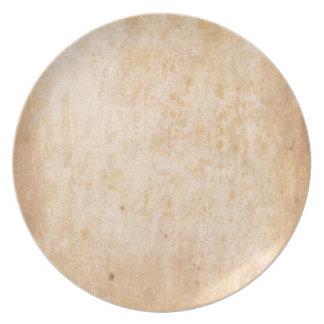 Retro Beige Grunge Pattern Plate