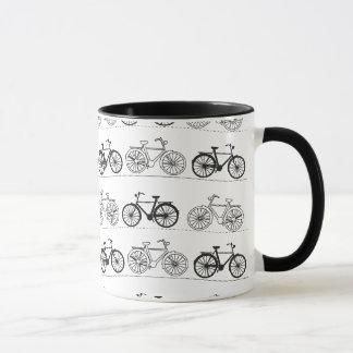 Retro Bicycle Pattern Mug