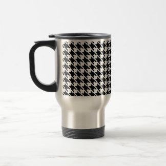 Retro black and white pattern mugs